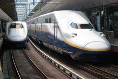 Shinkansen pociska pociąg fotografia stock
