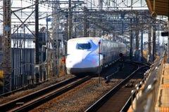 SHINKANSEN pociska pociąg JAPONIA Obraz Stock