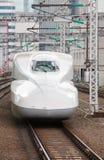 Shinkansen pociska pociąg Obrazy Royalty Free
