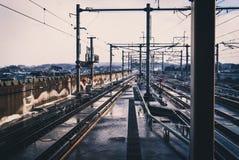 Shinkansen spår i Japan royaltyfria foton