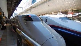 Shinkansen-Station, Fukuyama, Japan stock footage
