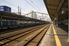 Shinkansen station, Fukuyama, Japan Stock Photos