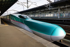 Shinkansen stopping at the station in Tokyo, Japan Royalty Free Stock Images