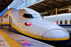 Shinkansen in Tokyo. TOKYO, JAPAN - MARCH 24: Shinkansen in Tokyo, Japan on March 24, 2012. Japan's main islands, are served by a network of high speed train Stock Photo