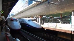 Shinkansen, Tokyo, Japan stock footage