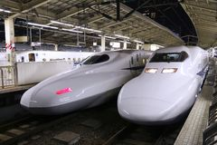Shinkansen trains Royalty Free Stock Image