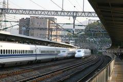 Shinkansens bortgång i Japan Royaltyfri Fotografi