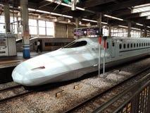Shinkasen火车在日本 免版税库存照片