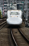 Shinkasen bullet trains Japan. Bullet train Japan Tokyo station 2013 Stock Image