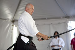 Shinkendo Swordplay Stock Images