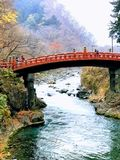 Shinkyo桥梁在日光 免版税图库摄影