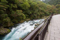 Shinkyo桥梁,日光,枥木,日本 免版税库存图片