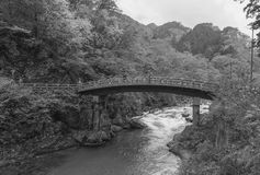 Shinkyo Bridge during Autumn in Nikko, Tochigi, Japan Royalty Free Stock Photos