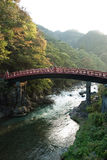 The Shinkyo bridge of Nikko, Japan. The historic bridge named Shinkyo (god's bridge) of Nikko, Tochigi prefecture, Japan.The photo took in autume colored with Royalty Free Stock Image