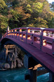 The Shinkyo bridge of Nikko, Japan. The historic bridge named Shinkyo (god's bridge) of Nikko, Tochigi prefecture, Japan.The photo took in autume colored with Stock Photography
