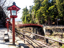 Shinkyo bridge at Nikko, Japan  Royalty Free Stock Images