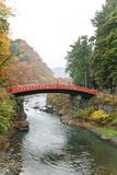Shinkyo Bridge in Nikko,Japan Royalty Free Stock Photos