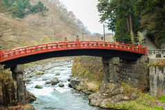 Shinkyo bro, Nikko, Japan Royaltyfri Bild