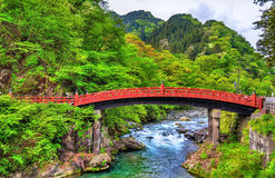 Shinkyo, Sacred Bridge, main way to the Futarasan Shrine in Nikko Stock Photos