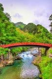 Shinkyo, Sacred Bridge, main way to the Futarasan Shrine in Nikko Royalty Free Stock Photos