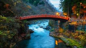 Shinkyo - the Sacred Bridge in Nikko Stock Image