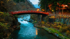 Shinkyo - the Sacred Bridge in Nikko Stock Images