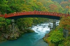 Shinkyo sous la pluie Photographie stock libre de droits
