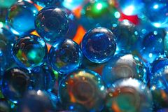 Shinning blue glass beads Stock Image