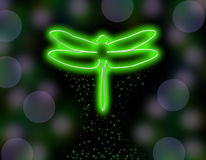 Shinning dragonfly background Royalty Free Stock Image