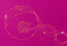 Shinning fotboll Royaltyfria Bilder