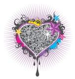 Shinning hjärta Arkivbild