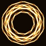Shinning laser golden magic circles. Royalty Free Stock Photography