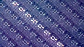 Shinning light over 6` silicon wafer. Macro