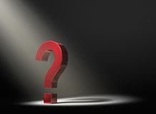 Shinning Light On A Question Stock Photo