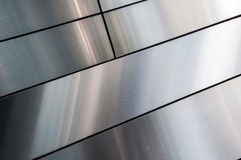 Shinning, smooth, silver metal texture. Background Stock Photo