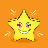 Shinning Star Mascot Cartoon  Design Stock Photo