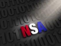 Shinning un espionnage de Cyber de NSA de lumière Image stock