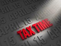 Shinning une lumière le temps d'impôts Photographie stock libre de droits