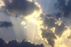 Shinningswolken royalty-vrije stock fotografie