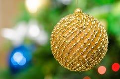 Shinny глобус рождества Стоковое фото RF
