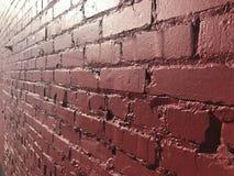 Shinny красная кирпичная стена стоковая фотография rf