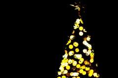 Shinny рождественская елка bokeh светлая Стоковое Изображение RF