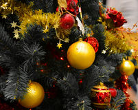 Shinny шарики рождества Стоковая Фотография RF