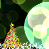Shinny Christmas tree Royalty Free Stock Photos