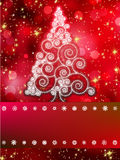 Shinny Christmas tree abstract background. EPS 8 Stock Photo