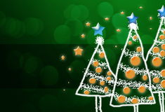 Shinny Christmas Tree, abstract background Royalty Free Stock Photos
