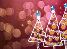Shinny Christmas Tree, abstract background Royalty Free Stock Image