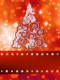 Shinny christmas tree background.  + EPS8 Royalty Free Stock Photos