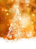 Shinny Christmas Tree. EPS 8 Royalty Free Stock Photos