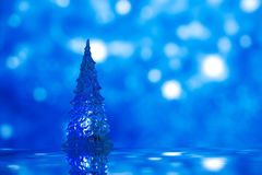 Shinny Glass Christmas Tree, abstract snow Royalty Free Stock Images